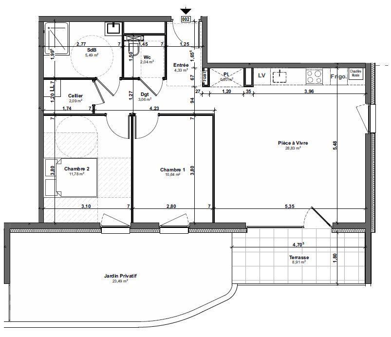 Appartement à vendre 3 69.06m2 à Metz vignette-2
