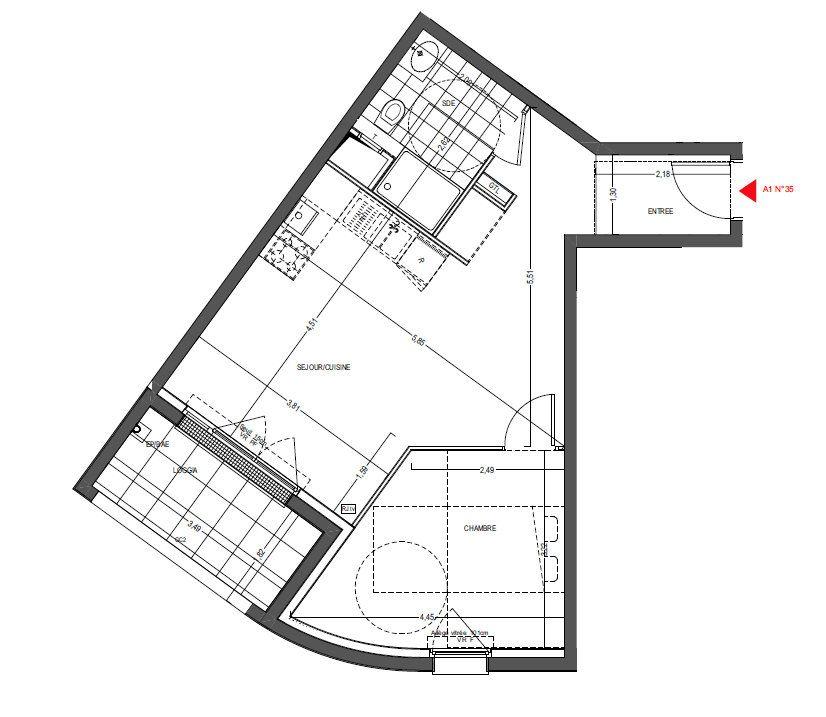 Appartement à vendre 2 44.64m2 à Thionville vignette-3