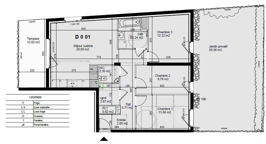 Appartement à vendre 4 81.92m2 à Guénange vignette-1