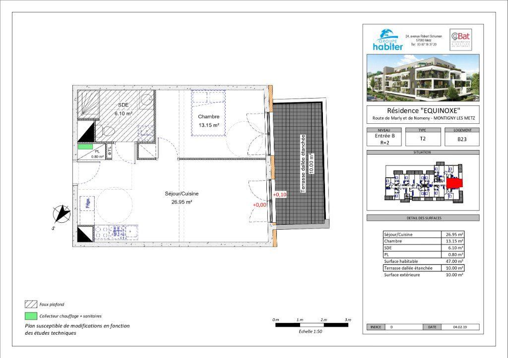 Appartement à louer 2 47m2 à Montigny-lès-Metz vignette-1