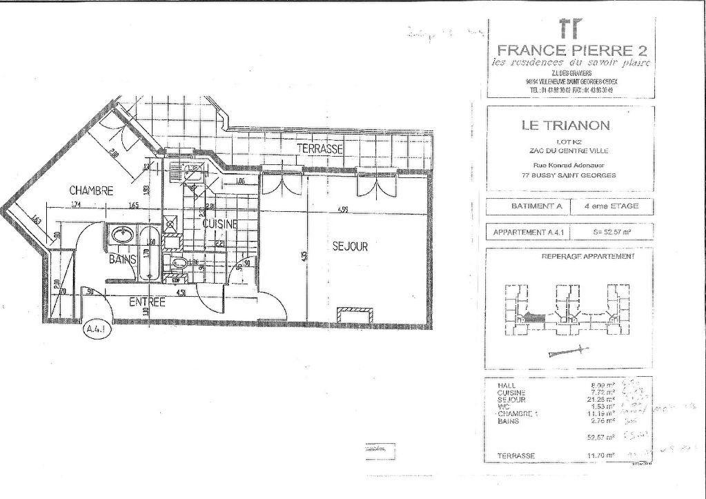Appartement à louer 2 52.57m2 à Bussy-Saint-Georges vignette-8