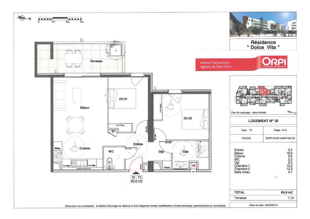 Appartement à vendre 3 60.9m2 à Alès vignette-2