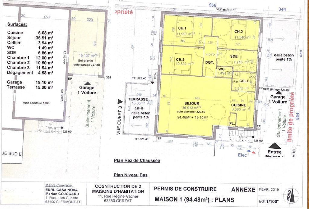 Maison à vendre 4 94m2 à Gerzat plan-1