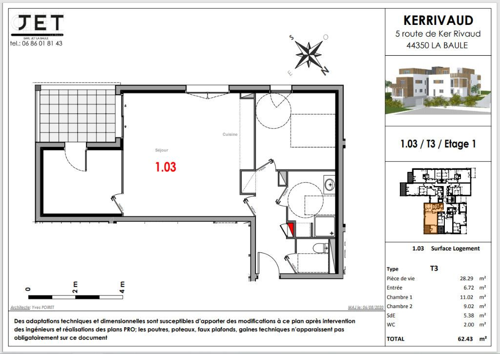 Appartement à vendre 3 62.43m2 à La Baule-Escoublac vignette-2