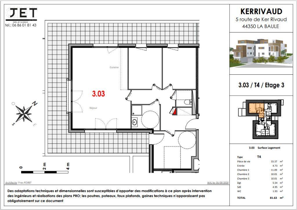 Appartement à vendre 4 81.63m2 à La Baule-Escoublac vignette-2