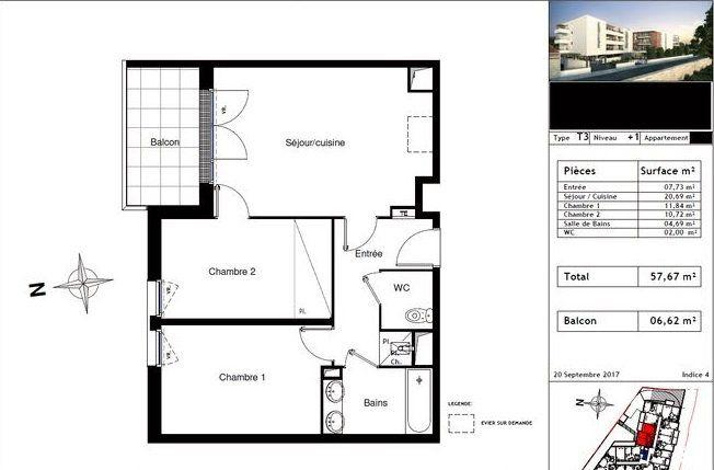 Appartement à vendre 3 57m2 à Toulouse vignette-10