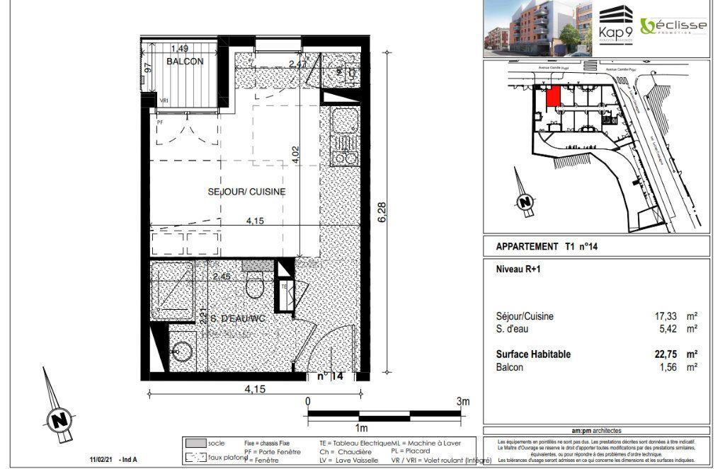Appartement à vendre 1 22.75m2 à Toulouse vignette-4