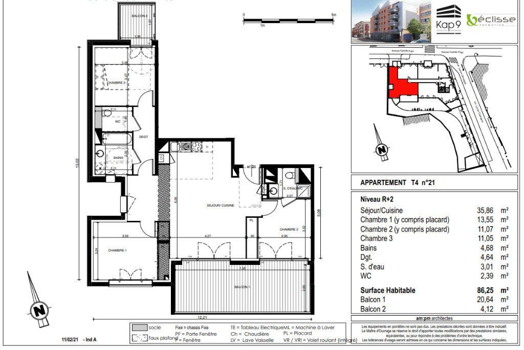 Appartement à vendre 4 87m2 à Toulouse vignette-4