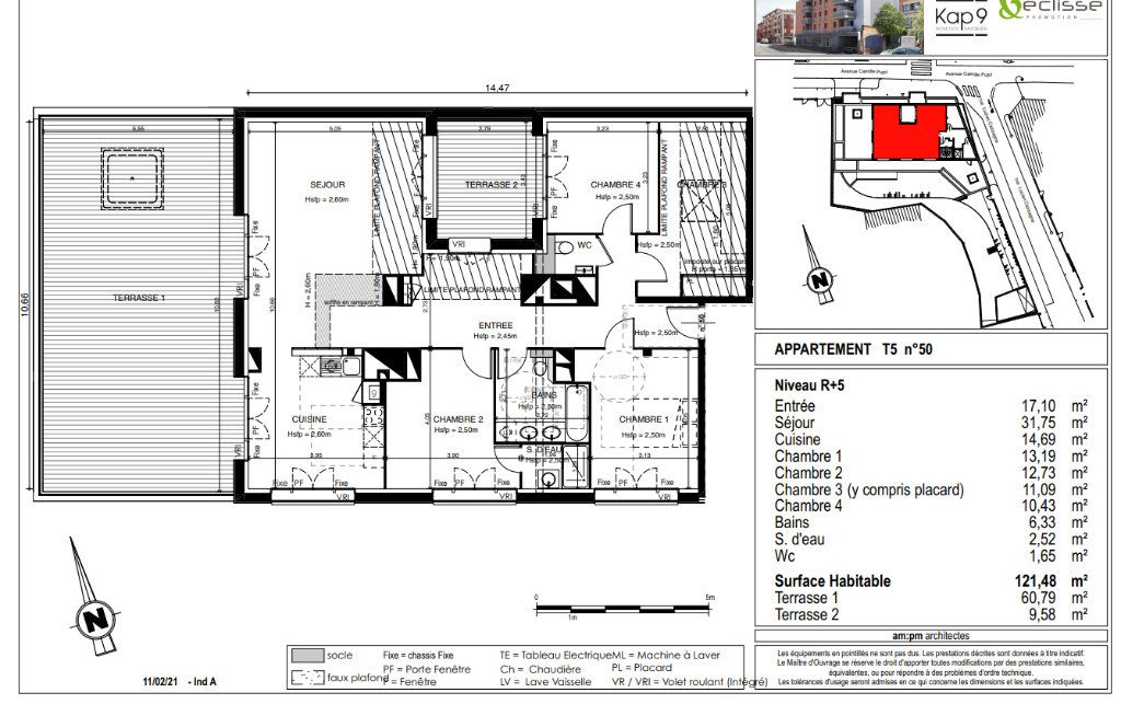 Appartement à vendre 5 122m2 à Toulouse vignette-2
