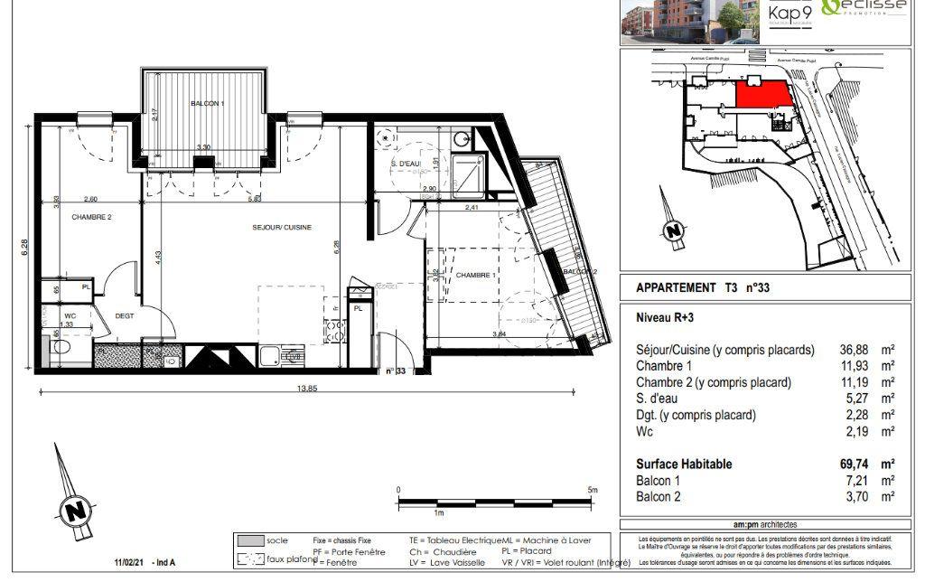 Appartement à vendre 3 70m2 à Toulouse vignette-2