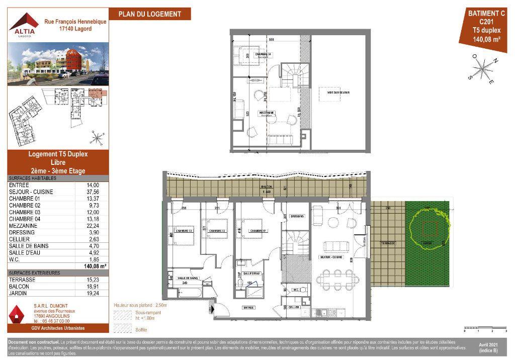 Appartement à vendre 5 140.08m2 à Lagord plan-1