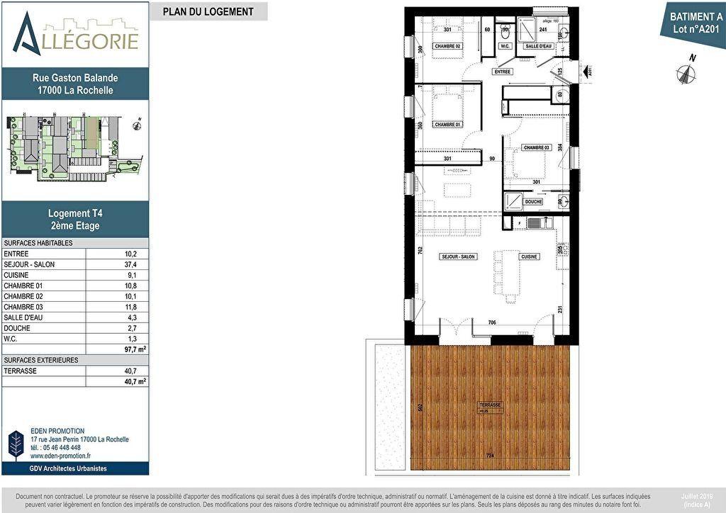 Appartement à vendre 4 97.7m2 à La Rochelle vignette-3