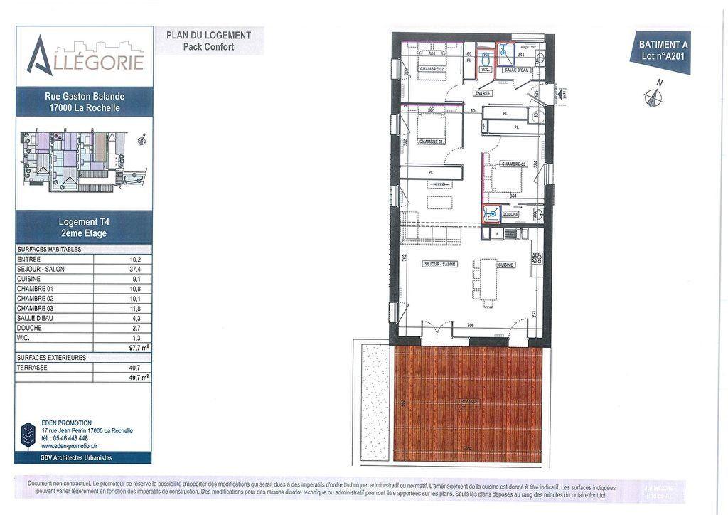 Appartement à vendre 4 97.7m2 à La Rochelle vignette-4