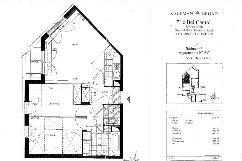 Appartement à louer 3 61.69m2 à Fontenay-le-Fleury vignette-7