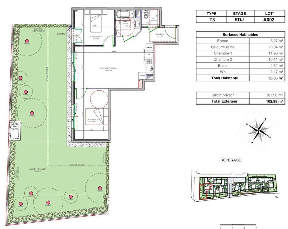 Appartement à vendre 3 56.83m2 à Cagnes-sur-Mer vignette-2