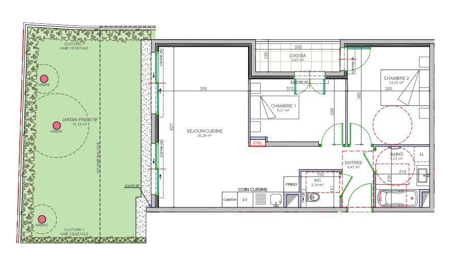 Appartement à vendre 3 58.95m2 à Cagnes-sur-Mer vignette-2