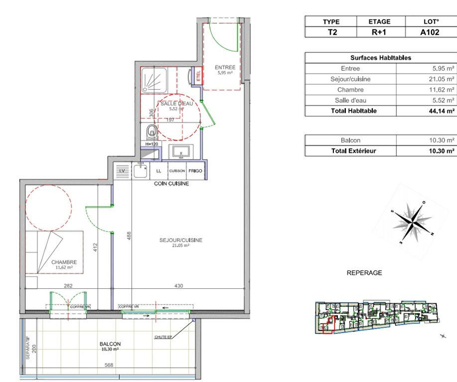 Appartement à vendre 2 44.14m2 à Cagnes-sur-Mer vignette-2