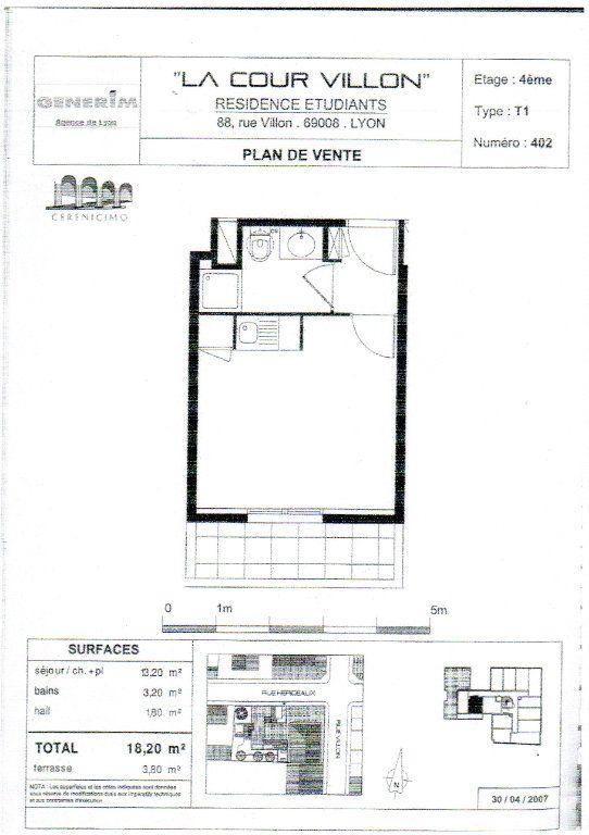 Appartement à vendre 1 18m2 à Lyon 8 vignette-1