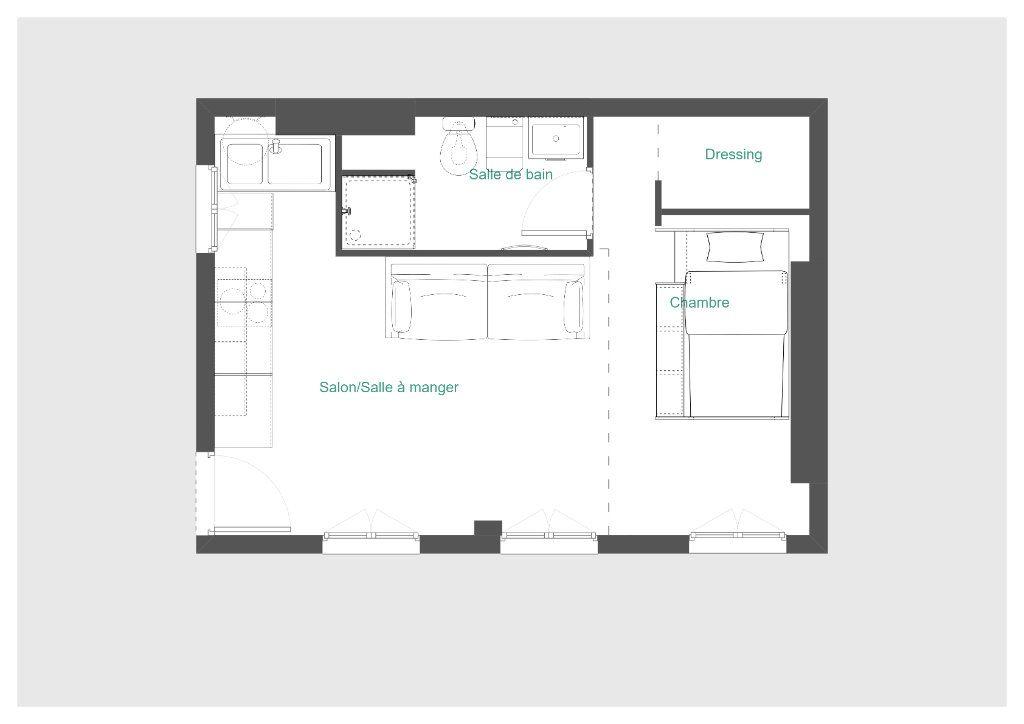 Appartement à vendre 1 28m2 à Paris 20 vignette-4