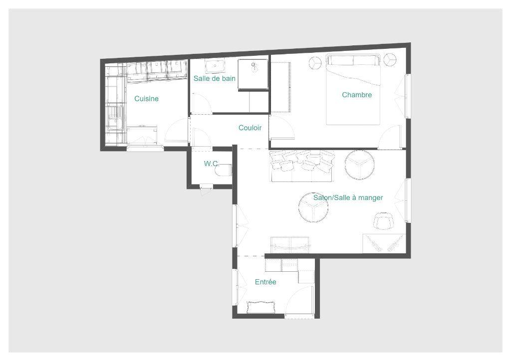 Appartement à vendre 2 45m2 à Paris 14 vignette-12