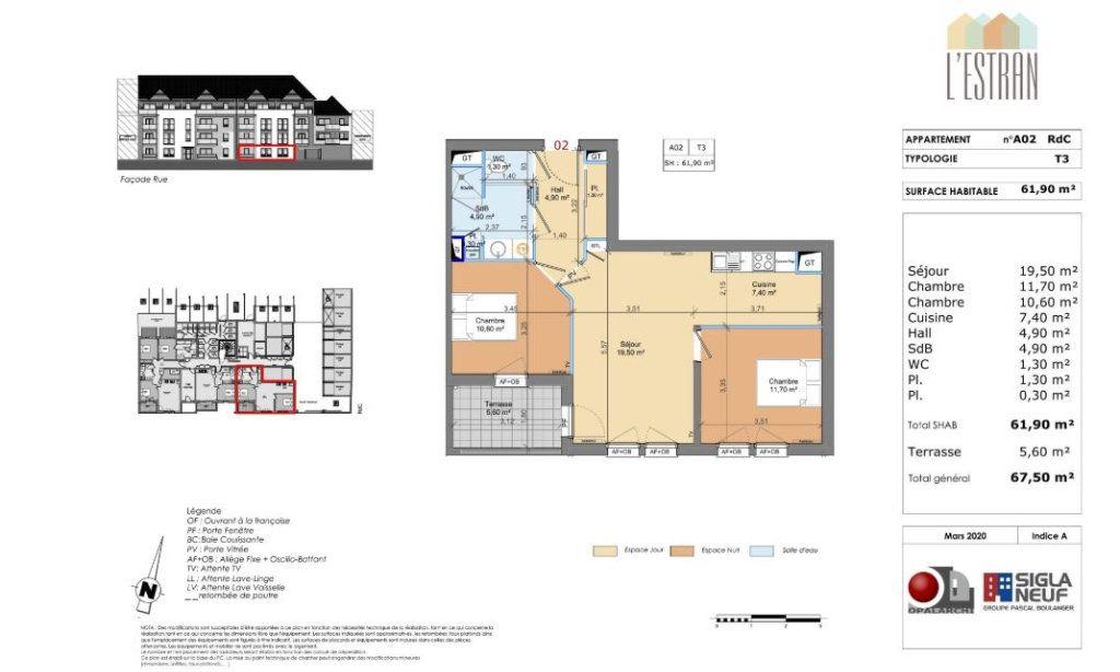 Appartement à vendre 3 61.9m2 à Berck vignette-2