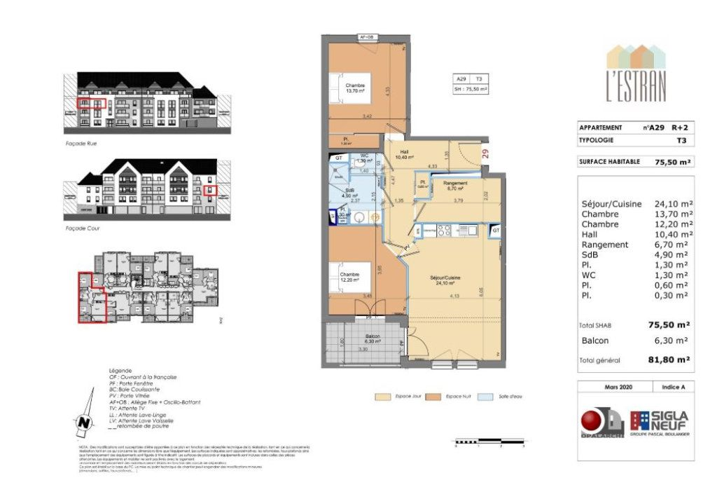 Appartement à vendre 3 75.5m2 à Berck vignette-2