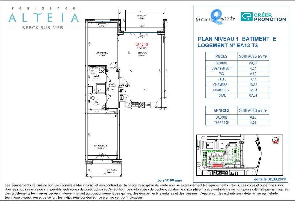Appartement à vendre 3 67.64m2 à Berck vignette-2
