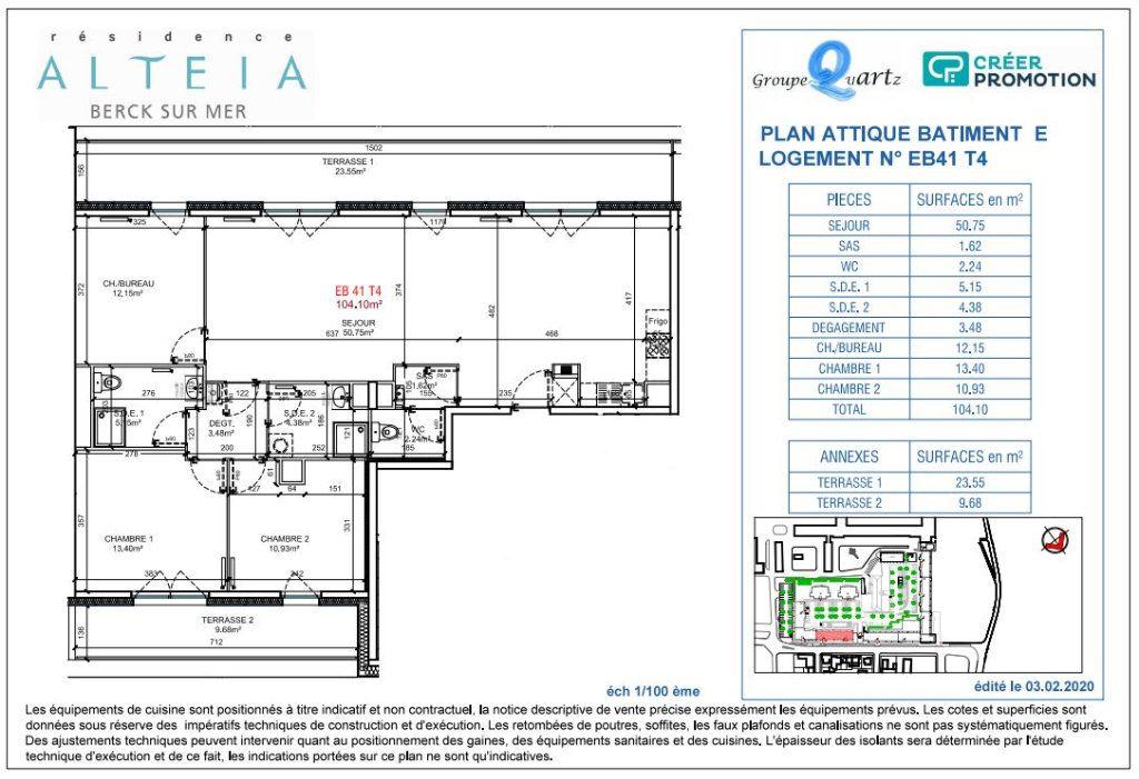 Appartement à vendre 4 104.1m2 à Berck vignette-2