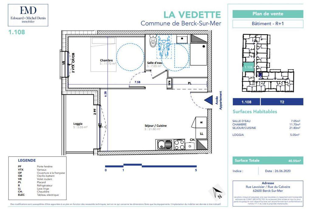 Appartement à vendre 2 40.55m2 à Berck vignette-2