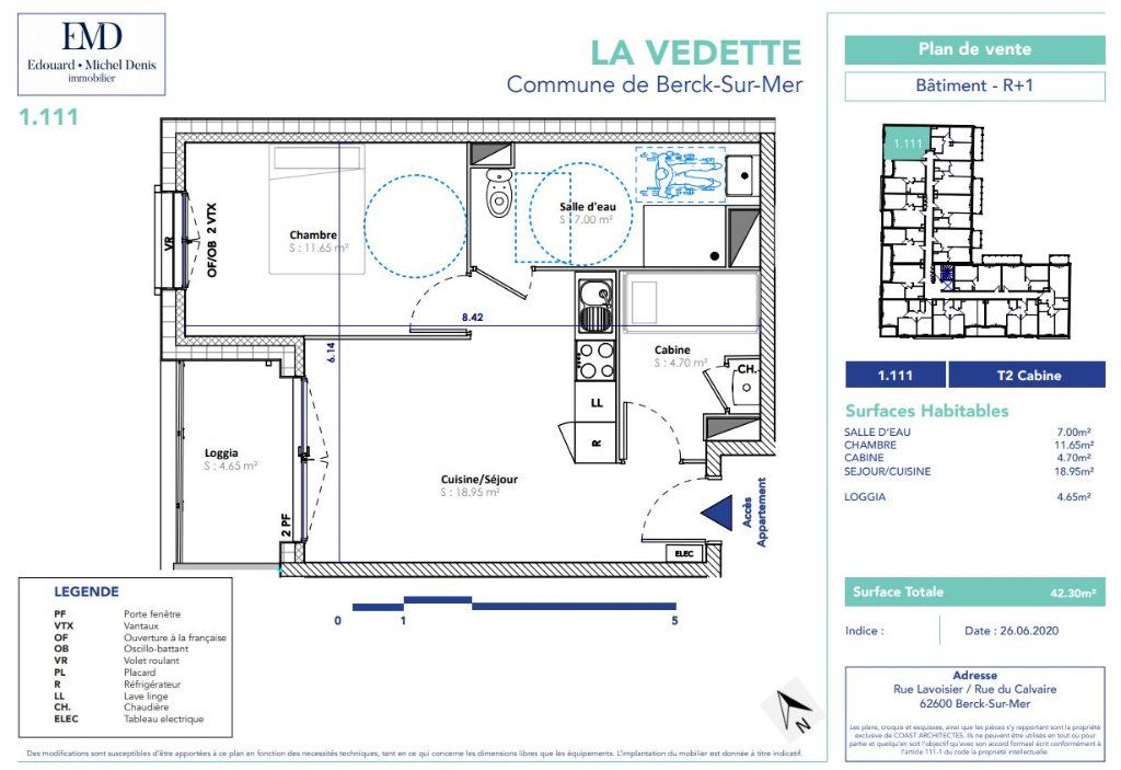 Appartement à vendre 2 42.3m2 à Berck vignette-2