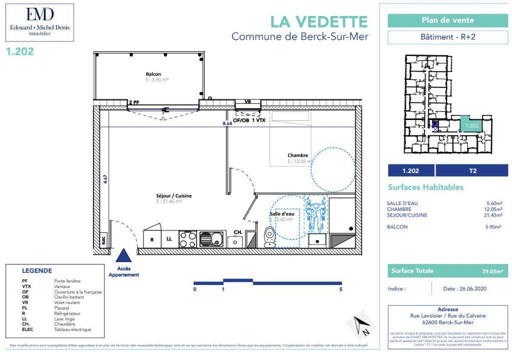 Appartement à vendre 2 39.05m2 à Berck vignette-2