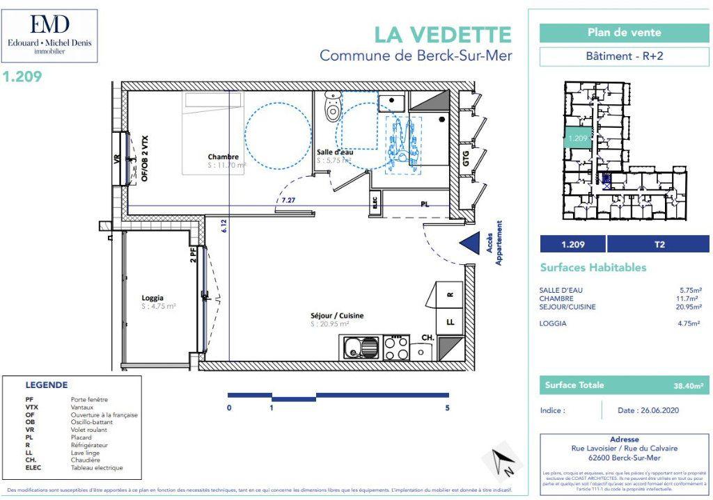 Appartement à vendre 2 38.4m2 à Berck vignette-2