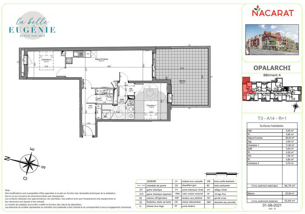 Appartement à vendre 3 66.7m2 à Berck vignette-2