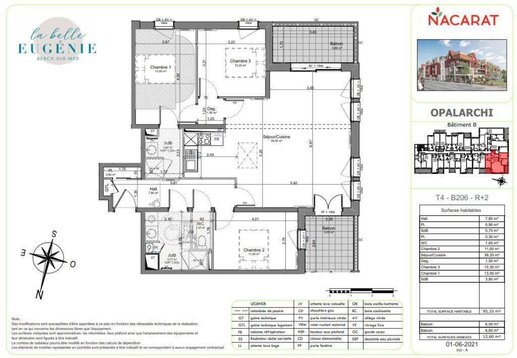 Appartement à vendre 4 95.1m2 à Berck vignette-2
