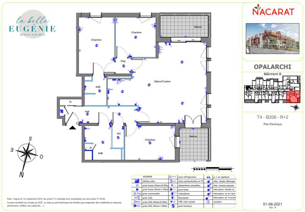 Appartement à vendre 4 95.1m2 à Berck vignette-3