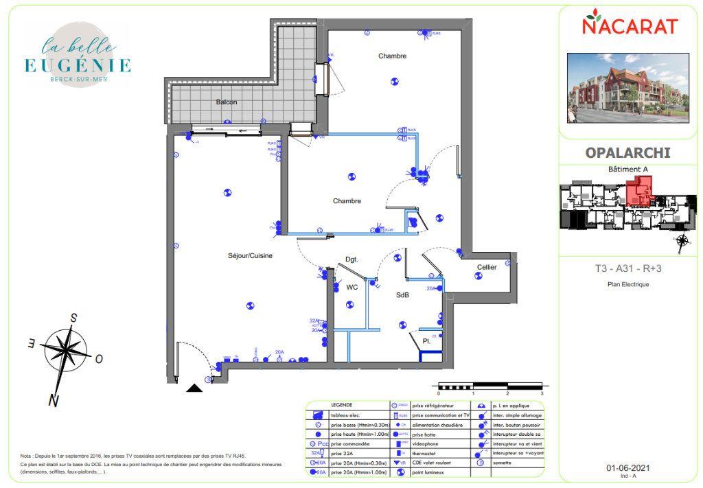 Appartement à vendre 3 63.8m2 à Berck vignette-3