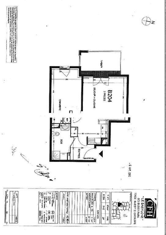 Appartement à louer 2 42.95m2 à Bussy-Saint-Georges vignette-1
