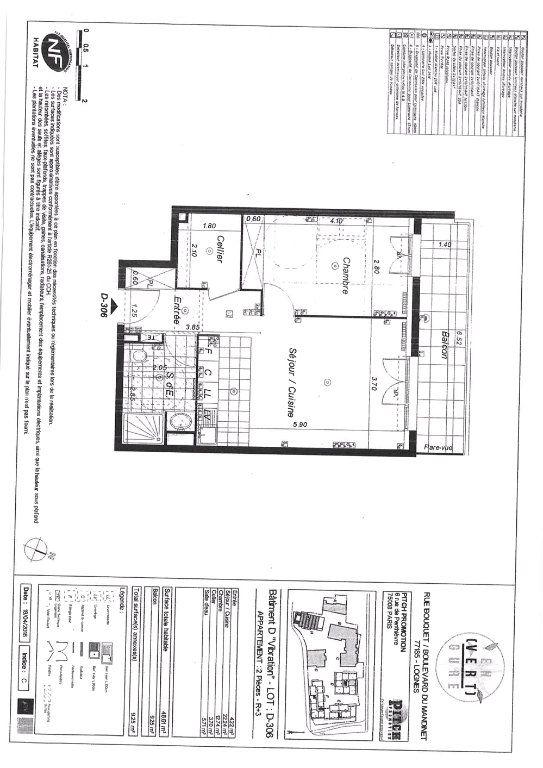 Appartement à louer 2 48.61m2 à Lognes vignette-1