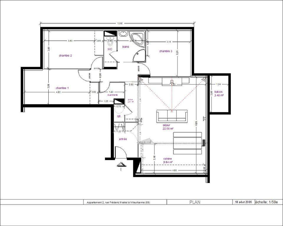 Appartement à vendre 4 87.78m2 à Lyon 3 vignette-7