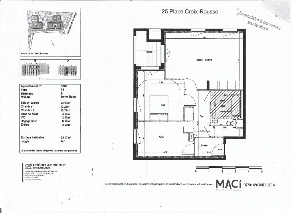 Appartement à louer 3 63.47m2 à Lyon 4 vignette-5