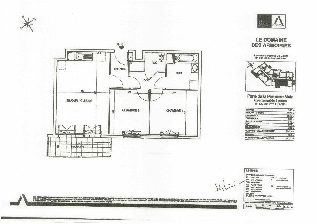 Appartement à louer 3 57m2 à Le Blanc-Mesnil vignette-1