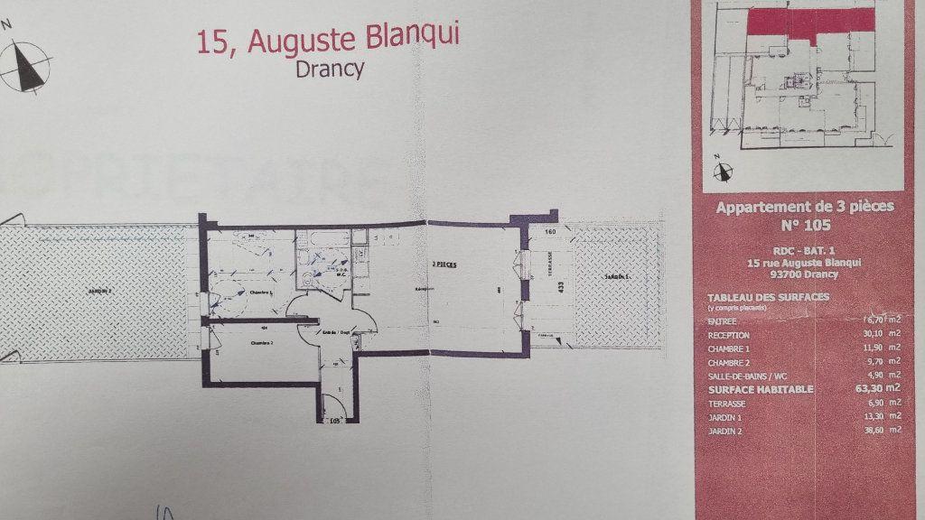 Appartement à louer 3 64m2 à Drancy vignette-2
