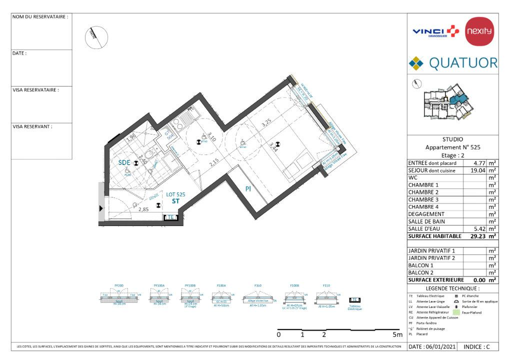 Appartement à louer 1 29m2 à Drancy vignette-5