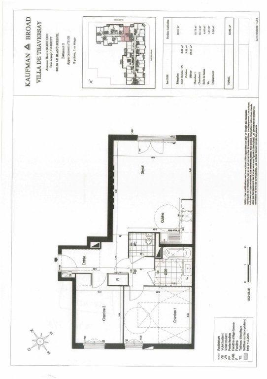 Appartement à louer 3 64m2 à Le Blanc-Mesnil vignette-2