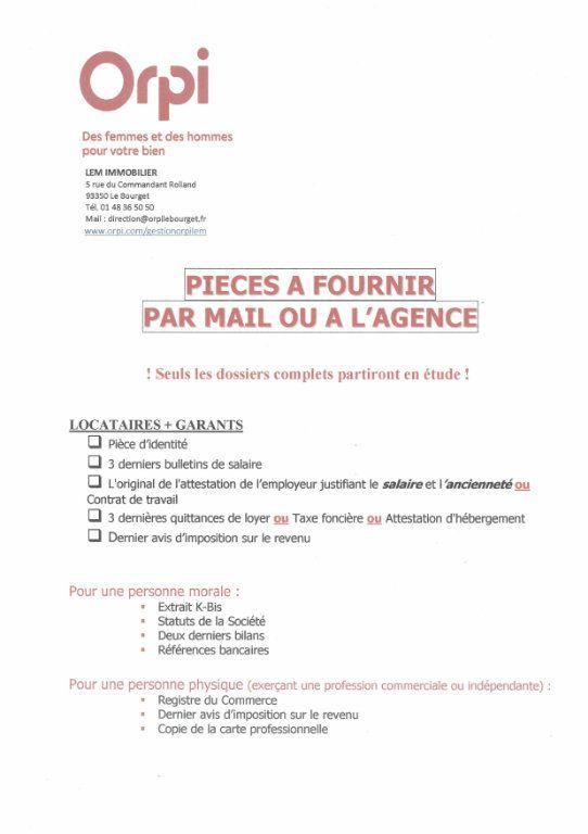 Appartement à louer 2 32m2 à Le Bourget vignette-2