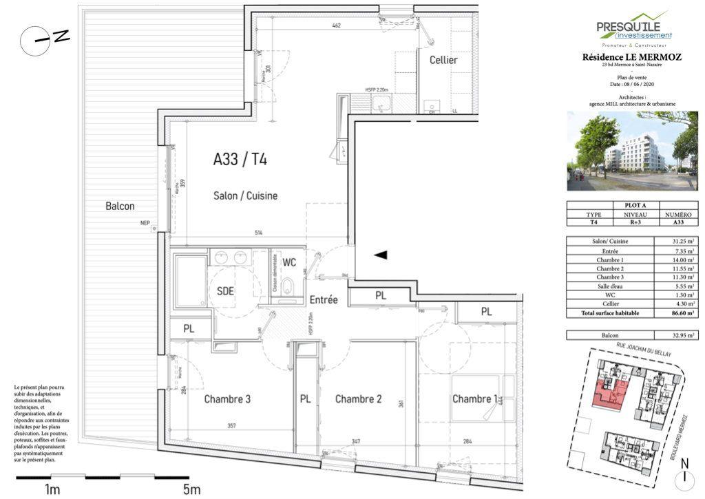 Appartement à vendre 4 87m2 à Saint-Nazaire vignette-3