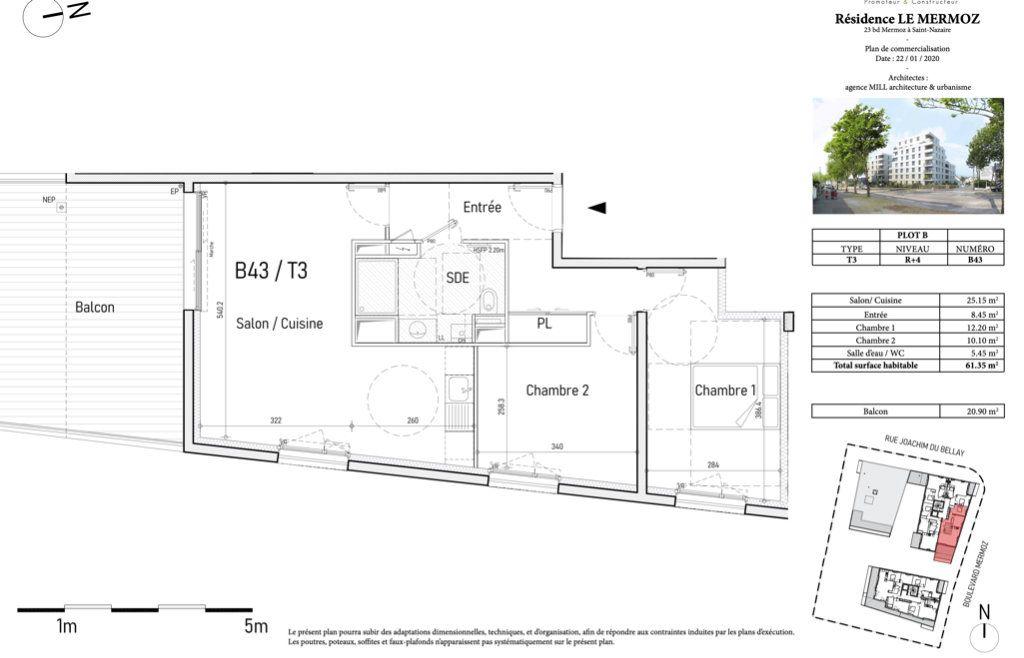 Appartement à vendre 3 61.35m2 à Saint-Nazaire vignette-2