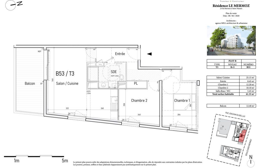 Appartement à vendre 4 82m2 à Saint-Nazaire vignette-2