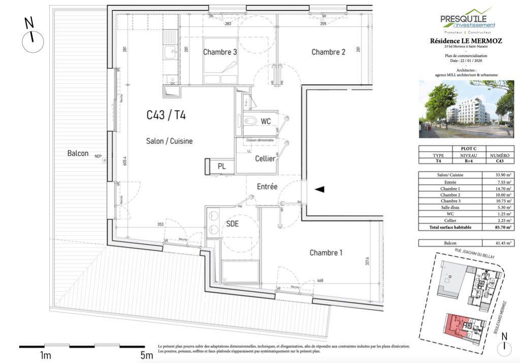 Appartement à vendre 4 85.7m2 à Saint-Nazaire vignette-2