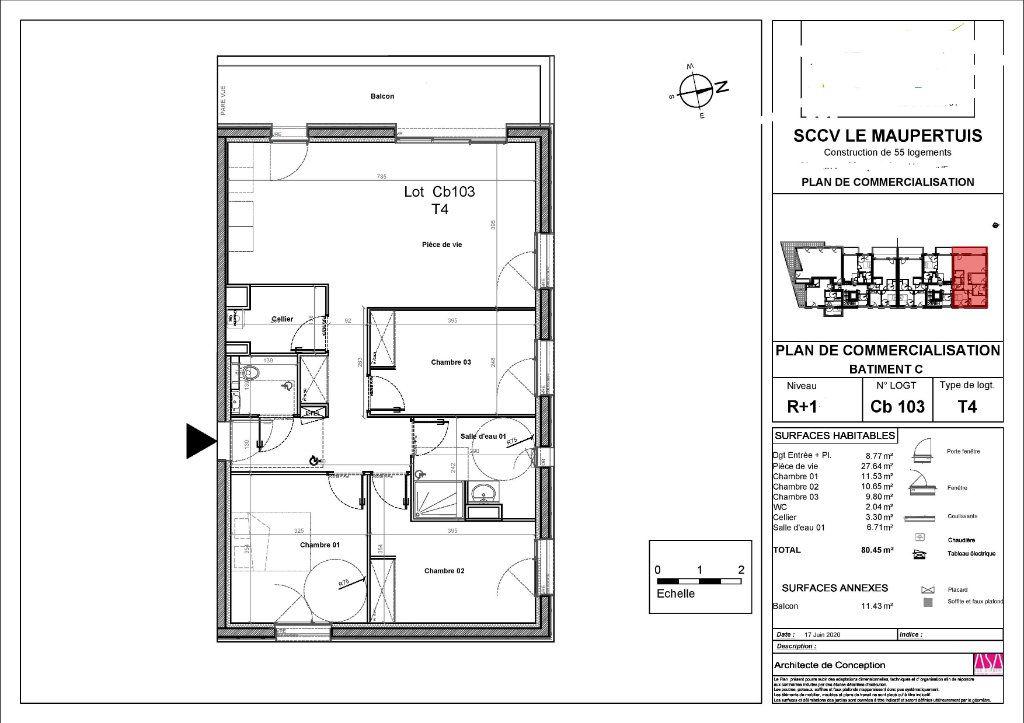 Appartement à vendre 4 80.45m2 à Guérande vignette-2